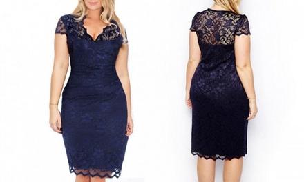 Kanten 'plus size'jurk