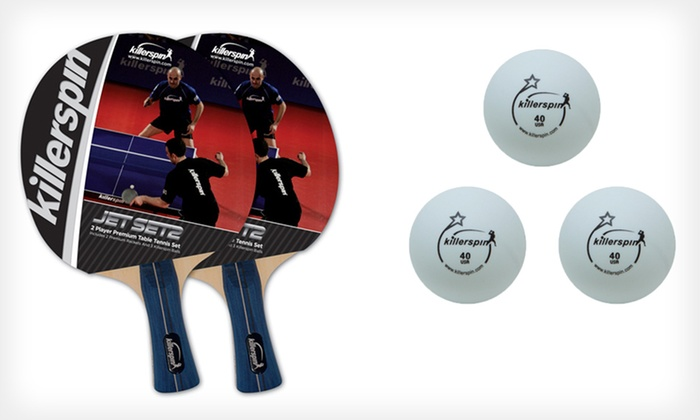 Killerspin Racket and Balls Set or MyT-Small Table Tennis Table. Free Shipping and Returns