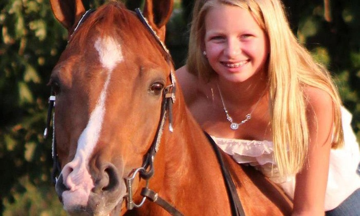 Cheval Bleu Riding Academy - West Creek: Two Horseback-Riding Lessons at Cheval Bleu Academy (65% Off)