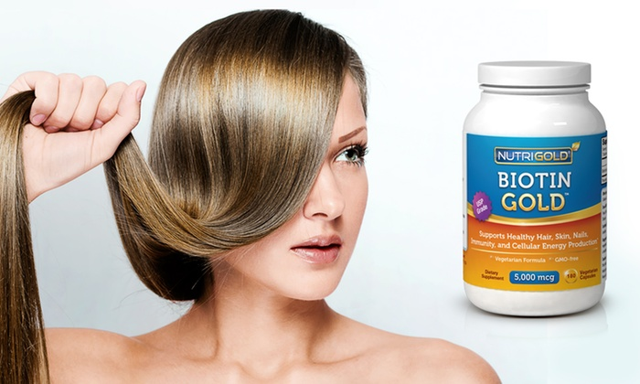 Biotin Hair-Growth Supplement: $19.99 for Two 180-Capsule Bottles of Biotin Hair-Growth Supplements ($57.90 List Price). Free Shipping.