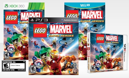 Lego Marvel Super Heroes for 3DS, Wii U, Xbox 360, or PS3