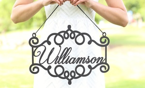 One Or Two Personalized Wooden Signs From Morgann Hill Designs (up To 60% Off)
