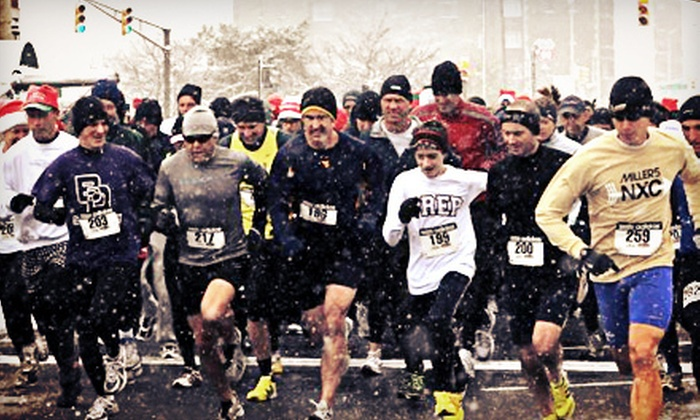 Sankt Nikolaus Lauf - Downtown Indianapolis: Entry for One or Two into 5K and 5-Mile Holiday Race from Sankt Nikolaus Lauf on December 1 (Up to 51% Off)