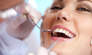 PK Dental: Dental Exam, Scale, Clean and X-Ray Package for One ($59) or Two People ($110) at PK Dental, Three Locations