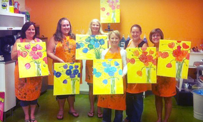 PLaY! Music and Art - Holly Springs: Group Painting Class for Two or Four at PLaY! Music and Art in Canton (Half Off)