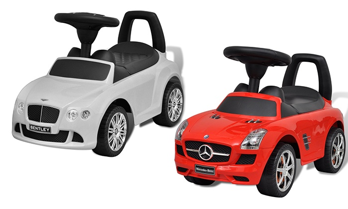 pousse pied voiture enfant mercedes benz ou bentley groupon. Black Bedroom Furniture Sets. Home Design Ideas