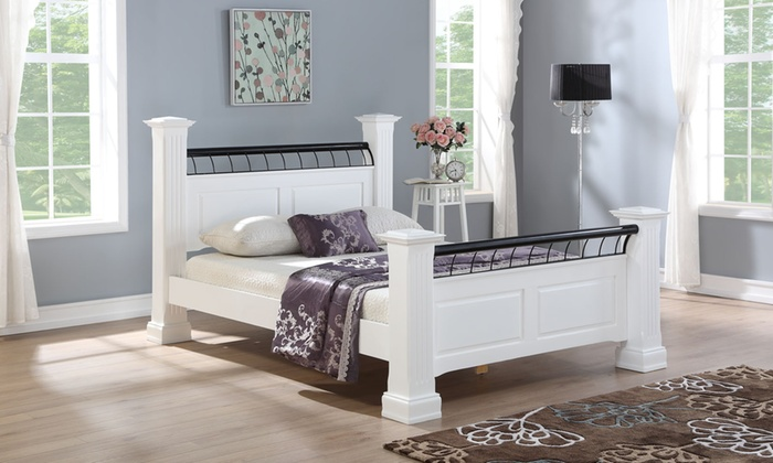 Oakdale Solid Wooden Bed Frame with Optional Mattress