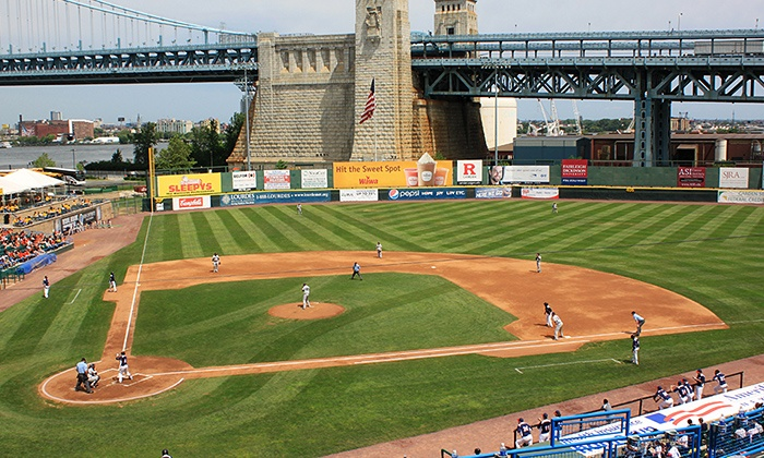 Camden Riversharks - Campbell's Field: Camden Riversharks Game for Two or Four with Food and Merchandise Credit at Campbell's Field (Up to 44% Off)
