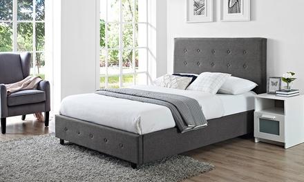 verona luxury linen fabric bed