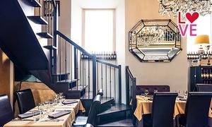 TRINITA DE MONTI: Menu afrodisiaco con bottiglia di vino al ristorante Trinità de' Monti in Piazza di Spagna (sconto fino a 62%)