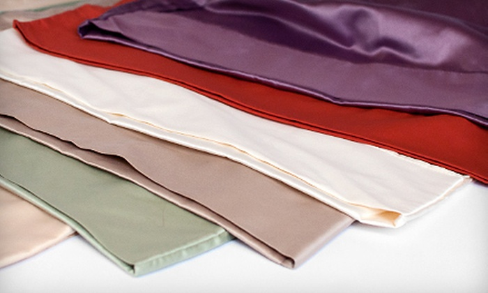 Cotton Sateen Sheet Set: Twin, Full, Queen, or King Cotton Sateen Sheet Set (62% Off). Multiple Colors Available.