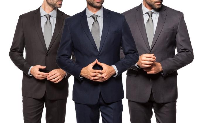 Mundo Uomo Men's Slim-Fit Sharkskin Suit (2-Piece)