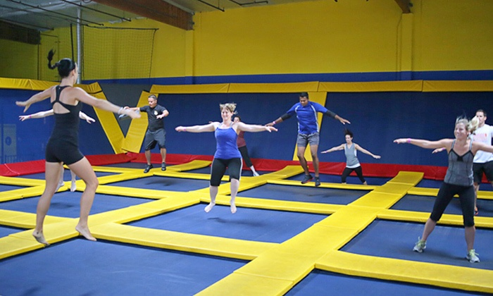 Sky High Sports - Sky High Sports - Houston: Two-Hour Trampoline Sessions or Private-Court Rental for 24 or 40 at Sky High Sports (Up to Half Off)