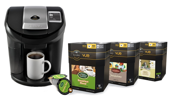 Keurig Vue V600 Brewing-System Bundle: Keurig Vue V600 Brewing System with 58 Assorted V-Cups.