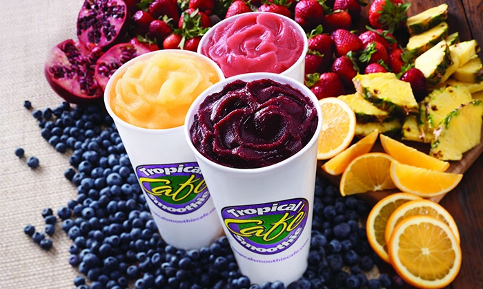 Tropical Smoothie Cafe - Gilbert: $15 for Three Groupons, Each Good for $10 Worth of Smoothies and Cafe Food ($30 Total Value)