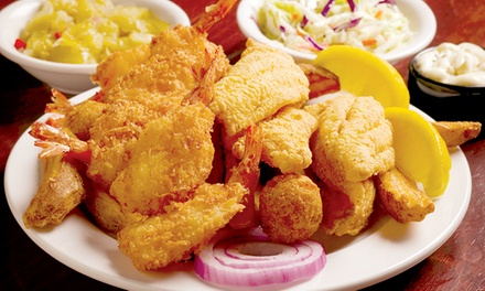 Southern-Style Seafood and Barbecue at Catfish City & BBQ Grill (50% Off). Two Options Available.