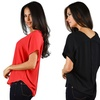 Women's Chiffon V-Neck Top by Ohconcept (Sizes L & XL)