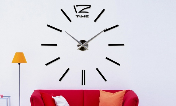 3d Vinyl Adhesive Wall Clock Groupon Goods