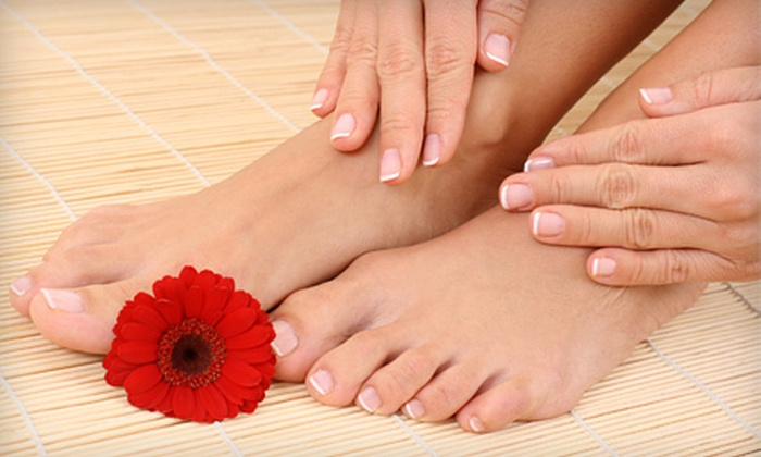 ColorFX - Saint Louis: Basic Manicure and Pedicure or Haircut with Full Highlights at ColorFX (Up to 59% Off)