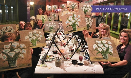 Three-Hour Painting Class for One or Two at Wine and Canvas Louisville (Up to 47% Off)