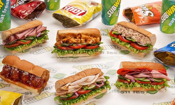 Subway - North Lincoln Avenue Chicago - Lakeview: $13 for Four Groupons, Each Good for $5 Toward a Meal at Subway ($20 Value)