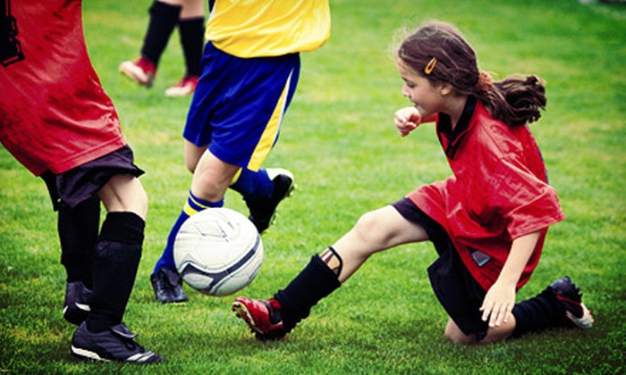 Golden Goal Sports Complex - Applewood West: One Week of Half- or Full-Day Youth Soccer Camp at Golden Goal Sports Complex (50% Off)