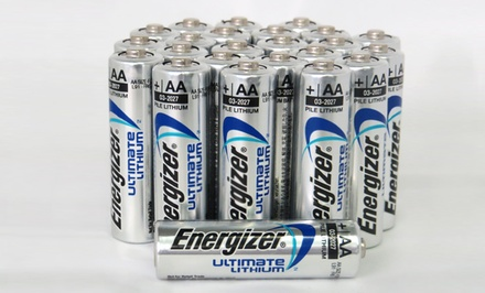 24-Pack of Energizer Ultimate Lithium AA or AAA Batteries. Free Returns.