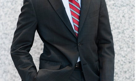 Custom Egyptian Cotton Dress Shirt and Silk Tie with an Option for a Custom Suit at Just White Shirts (Up to 59% Off)