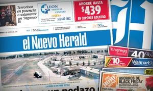 """El Nuevo Herald: $8 for a 12-Month Saturday and Sunday Subscription to """"El Nuevo Herald"""" ($203.95 Value)"""