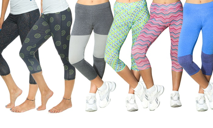 Women's Active Capris (6-Pack) | Groupon Goods