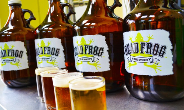 Dead Frog Brewery - Langley: Brewery Packages with Growlers, Beer Flights, and Pint Glasses at Dead Frog Brewery (Up to 52% Off)