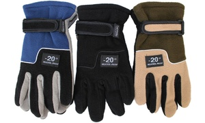 Men's Thermal-Insulated Fleece Gloves (3-Pack)