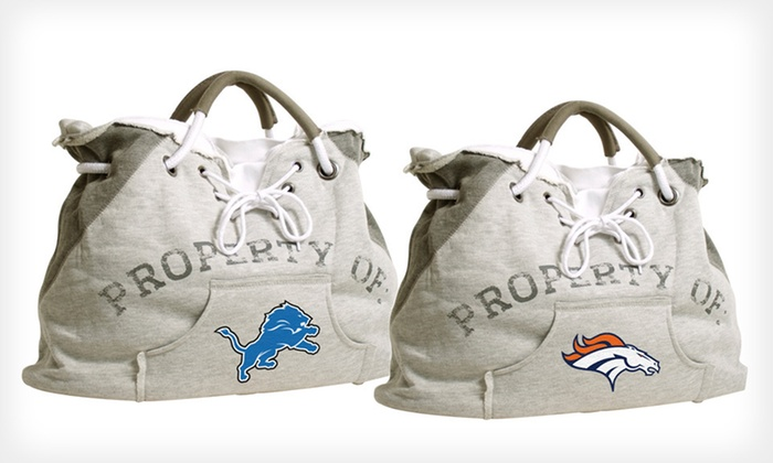 "NFL ""Property Of"" Team Hoodie Tote: $24 for NFL ""Property Of"" Team Hoodie Tote ($44.99 List Price). 15 Options Available. Free Shipping and Free Returns."