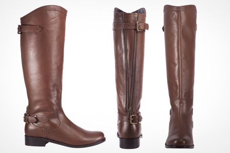 Ladies' Leather Riding-Style Boot | Groupon Goods