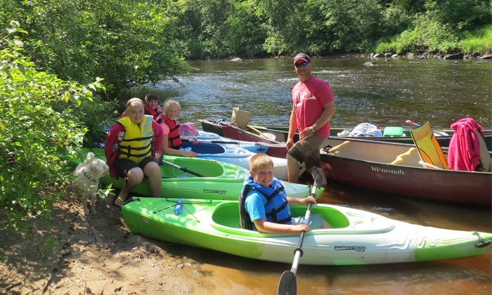 EC Adventures - Eau Claire: Kayaking Trip, Kayak Rental with Geocaching, or Two-Day Rental for Two by EC Adventures (Up to 51% Off)