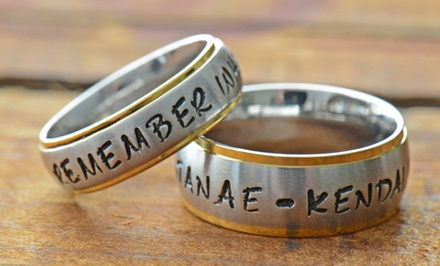 Personalized Stamp Ring from Stamp the Moment