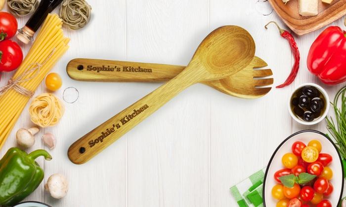 Utensili da cucina in legno personalizzati 2 set for Utensili cucina online shop
