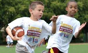 Washington NFL Alumni Hero Youth Football Camp: Washington NFL Alumni Hero Non-Contact Youth Football Camp Instruction for Ages 6–14, 5-Day Camps