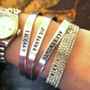 Custom Stamped Aluminum Rings and Cuffs