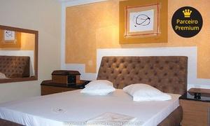 Studio Hotel (Motel): Studio Hotel – Santos: período, perdia ou pernoite em suíte com hidro + Pizza ou Filet  para 2 pessoas