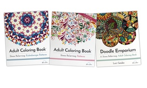 Adult Coloring Books: Patterns Collection (1- or 3-Pack)