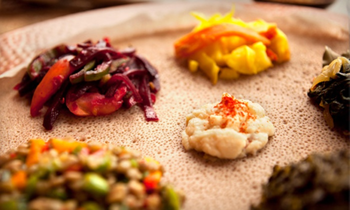 Addis Red Sea - Multiple Locations: Ethiopian Dinner for Two or Four, Valid Sunday–Thursday or Friday–Saturday at Addis Red Sea (Up to 54% Off)