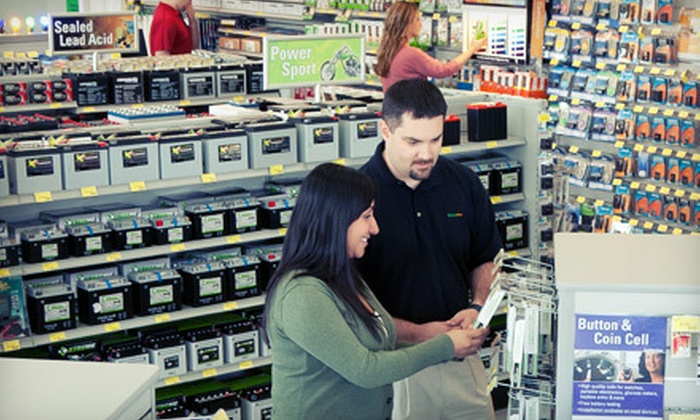 Batteries Plus - Multiple Locations: Batteries and Light Bulbs at Batteries Plus (Up to 62% Off). Three Options Available.