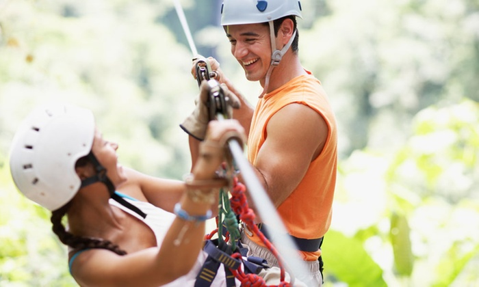 Zip Line USA - Ruth A: Zipline Course for Two or Four from Zip Line USA (Up to 39% Off)