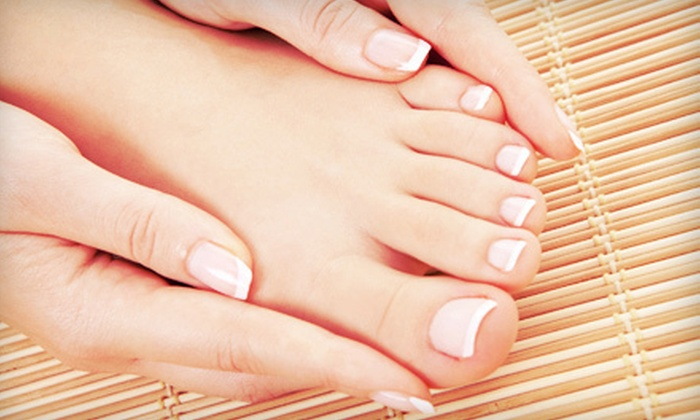 Salon DNA - Old Town: Spa Mani-Pedi with Option for Conditioning Treatment and Blowout at Salon DNA (Up to 53% Off)