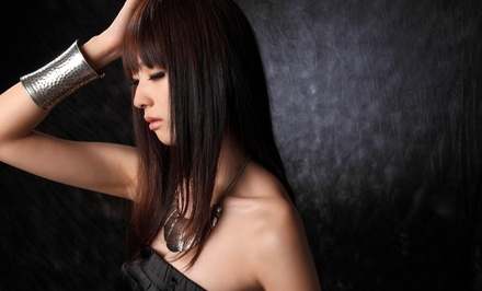 Haircut and Conditioning Treatment with Optional Color or Partial Highlights at Salon G (Up to 70% Off)