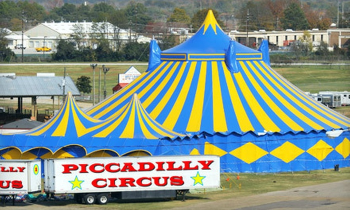 Piccadilly Circus - Union Grove: $35 for Piccadilly Circus Show Package for Two Adults and Two Children at Racine County Fairgrounds (Up to $69.70 Value)