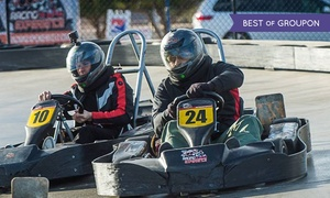 Gene Woods Racing Experience: Two Go-Kart Races for One or Two or VIP Package for Two at Gene Woods Racing Experience (Up to 80% Off)