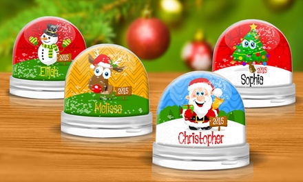 Personalized Snow Globes from Dinkleboo (Up to 64% Off)