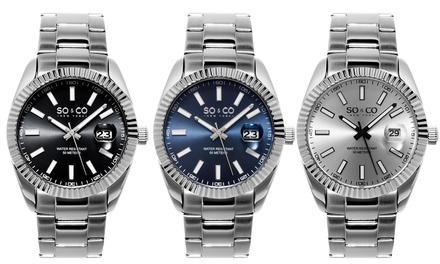 SO & CO New York Men's Luminous Madison Dress Watch Collection